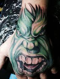 3d hulk tattoo on hand tattoodesignsstudio co za
