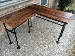 Wood L Shaped Desk Rustic Reclaimed Barn Wood L Desk Table Solid Oak W