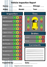 daily vehicle inspection form vehicle ideas