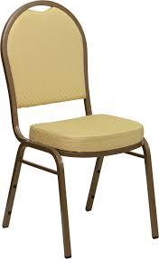 Dome Chairs Beige Fabric Dome Back Banquet Chair W Gold Frame
