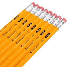 amazon com colore 2 pencils with eraser tops hb graphite no