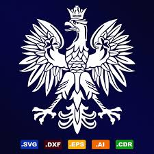 polish eagle symbol emblem coat of arms svg dxf by stickthemall