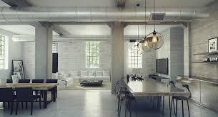 industrial interior open space industrial interior design for large studio apartment