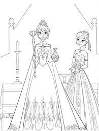 elsa anna colouring pages image frozen party