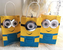 minion gift bags minion gifts etsy