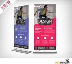 corporate outdoor roll up banner free psd download download psd