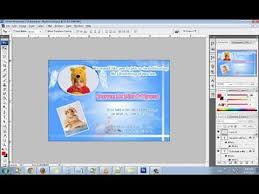 how to make an angel baptism christening invitation card using