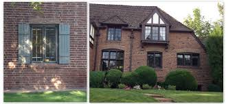 red brick house brown trim chelowry renovation exterior decor
