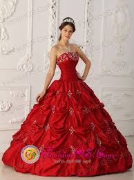 achutupo panama elegant wine red quinceanera dress with strapless