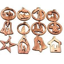 A Christmas Story Ornament Set - bethlehem olive wood complete christmas ornament set nativity