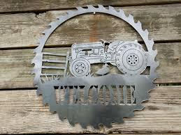 tractor decor metal door hanger tractor sign tractor sawblade