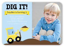 we dig trucks 5x7 invitation card birthday invitations shutterfly