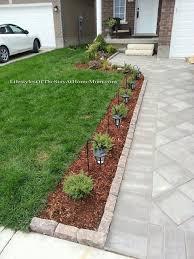 Sidewalk Garden Ideas Neat Design Driveway Landscaping Ideas 1000 Front Sidewalk On