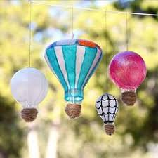 i made upcycled air balloon ornaments as part of our gift
