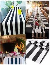 black white striped table runner 10 black and white table runner 108 3d black white striped satin ebay