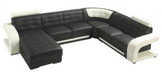 modern black and white leather sectional sofa modern black and white leather u shape sectional sofa t139