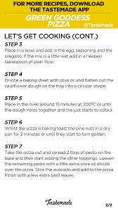 tastemade green goddess pizza recipe