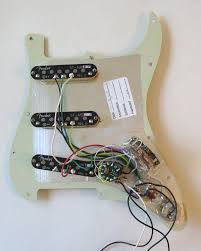 lefty fender deluxe stratocaster pickguard wiring diagram