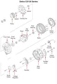 single wire alternator chevy voltage regulator circuit ac delco