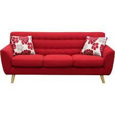 Red Loveseat Scarlett Tufted Sofa Rouge Red Diamond Sofa Modern Manhattan
