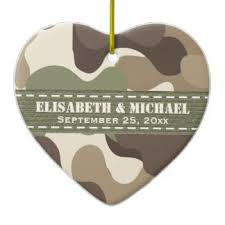 Personalized Wedding Ornament Camouflage Ornaments U0026 Keepsake Ornaments Zazzle