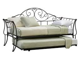 Iron Daybed With Trundle Furniture Bed With Black Iron Pop Up Trundle Bed Added Standing