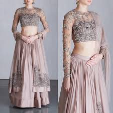 ridhi mehra on instagram u201cgrey embellished flamingos lehenga