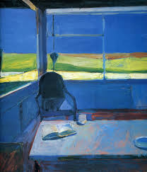 interior with a book by richard diebenkorn