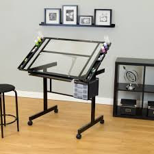 Drafting Craft Table Studio Designs Vision 2 Craft Center With Glass Top Hayneedle