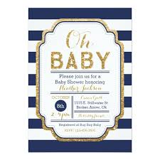 navy and gold baby shower invitation baby boy card zazzle