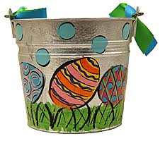 painted easter buckets painted easter eggs easter pail 35 00 the mississippi