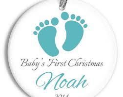 footprint ornament etsy