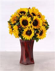 Vase Of Sunflowers Buy Sunflower Martini Vase Flowers Netflorist
