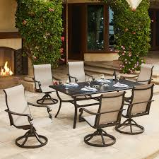 Patio Dining Sets Costco - 7 piece patio dining set with swivel chairs patio decoration