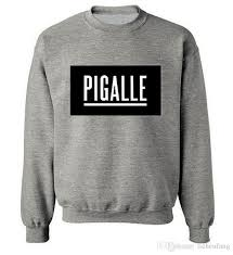 pigalle sweatshirt o neck famous brand hip hop style hoodie rock