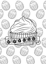 easter egg and cupcake by allan easter coloring pages for