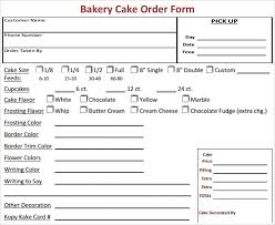 Order Sheet Template Sle Cake Order Form Template 13 Free Documents In