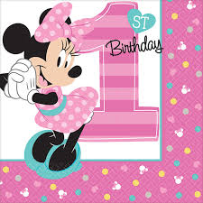 minnie mouse 1st birthday disney minnie mouse 1st birthday beverage napkins 16