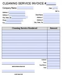 cleaning invoice template free free business template