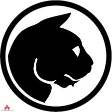 cat face logo circle design free clipart design download