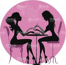 silhouettes girls in beauty salon stock vector art 513707681 istock