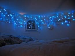 blue christmas lights in bedroom designcorner