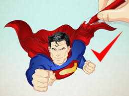 draw superman 13 steps pictures wikihow