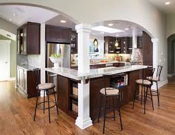l shaped kitchen island ideas awesome l shaped kitchen island with bar stools 9147 baytownkitchen