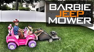barbie jeep barbie jeep mower workplaydrive
