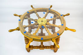 small foyer table ls coffee table ship wheel unusual novelty side card gaming low retro