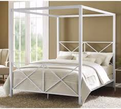bedding endearing bailey charcoal full size canopy bed frame king