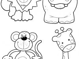 coloring pages of zoo animals for preschool coloring page for kids