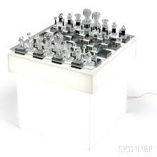 charles hollis jones chess set and stand sale number 2830b lot