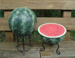 Copper Gazing Ball Decorating Black Metal Gazing Ball Stands With Watermelon Ball